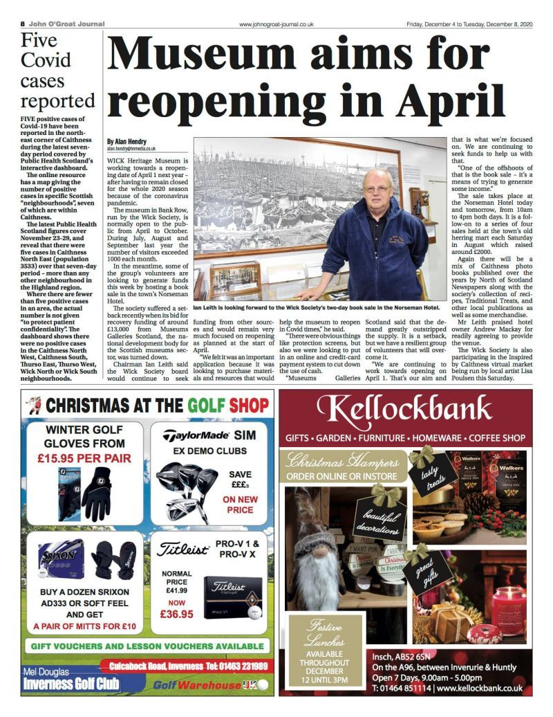 """Wick Heritage Museum to open April 2021"""""""